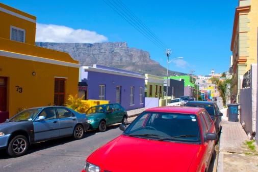 Malay Quarter「Table Mountain from Bo Kaap, Cape Town.」:スマホ壁紙(5)