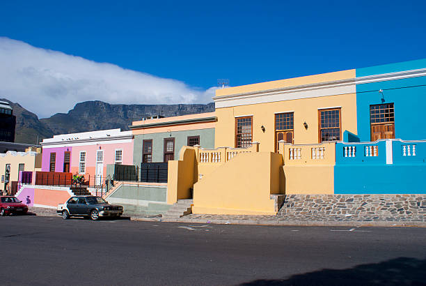 Table Mountain from Bo Kaap, Cape Town.:スマホ壁紙(壁紙.com)