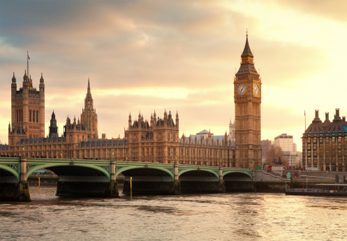 Gothic Style「Big Ben and the Parliament in London at sunset」:スマホ壁紙(14)