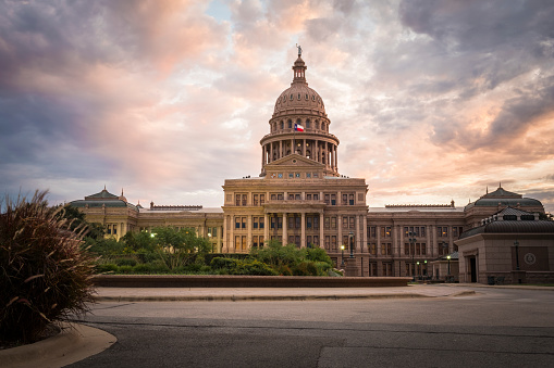 Politics「USA, Austin,Texas State Capitol, Congress Avenue」:スマホ壁紙(13)