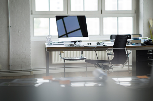 Chair「Desk and chair in bright office」:スマホ壁紙(11)