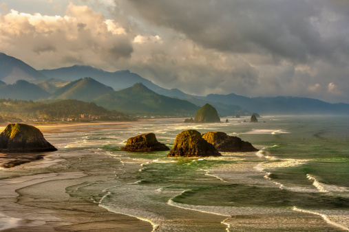 Haystack Rock「Canon Beach from Ecola State Park」:スマホ壁紙(15)