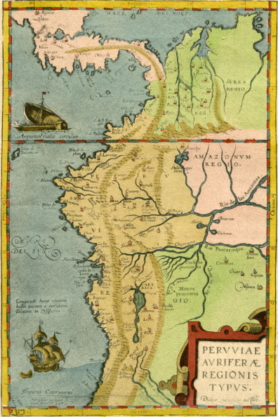 Physical Geography「16th century map of South America」:写真・画像(5)[壁紙.com]