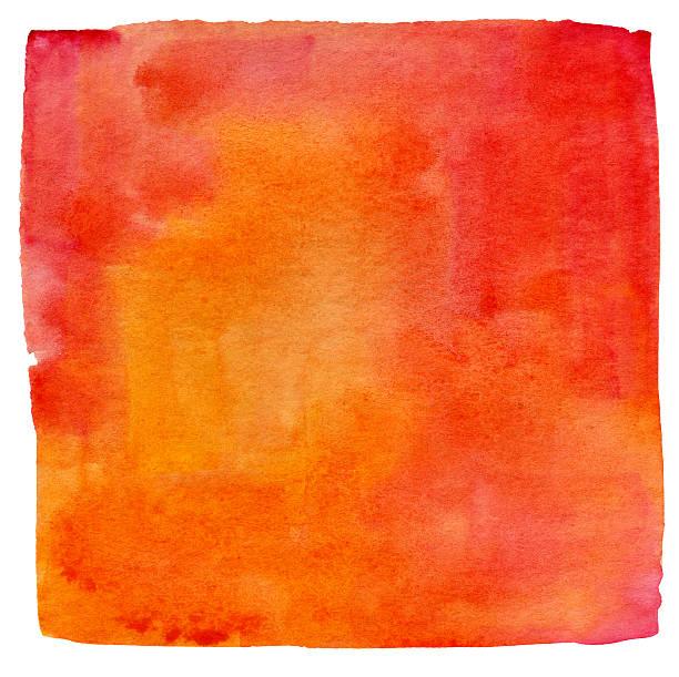 Lukianchik Peach watercolour square:スマホ壁紙(壁紙.com)