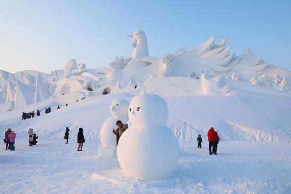 Sculpture「2020 Harbin International Ice & Snow Festival - Grand Opening」:写真・画像(7)[壁紙.com]