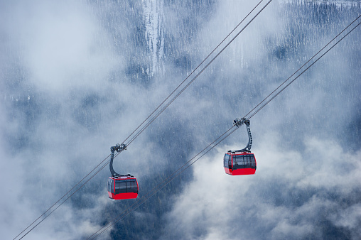 Aerial tramway「Whistler ski resort in winter」:スマホ壁紙(8)