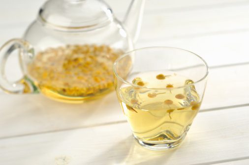 Teapot「The herb tea which a glass teapot and a cup contai」:スマホ壁紙(8)