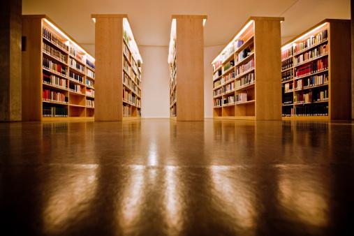 Bookstore「Bookshelves at the library」:スマホ壁紙(13)