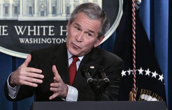 Corporate Business「Bush Holds A Press Conference」:写真・画像(1)[壁紙.com]