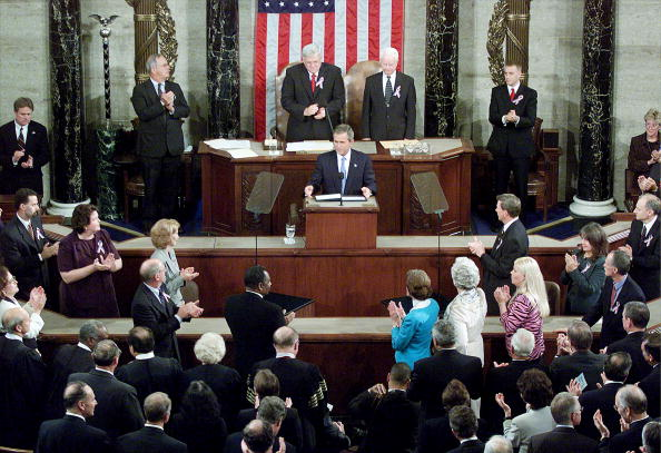 Joint Session of Congress「President Bush speaks To Joint Session of Congress」:写真・画像(2)[壁紙.com]