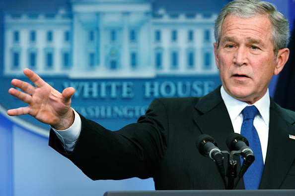 Press Room「Bush Holds Press Conference At White House」:写真・画像(14)[壁紙.com]