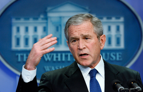 Press Room「Bush Holds Press Conference At White House」:写真・画像(16)[壁紙.com]
