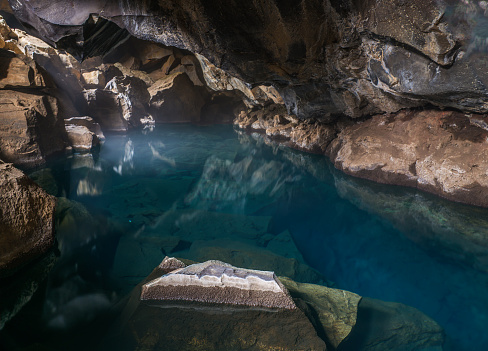 North Iceland「Iceland, Myvatn, Grotagja, Grotto」:スマホ壁紙(16)