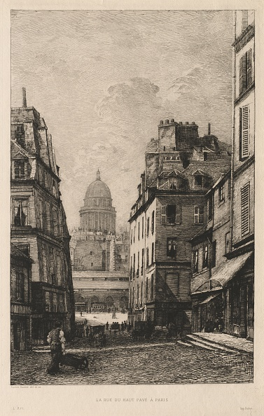 Etching「La Rue Du Haut Pavé À Paris」:写真・画像(8)[壁紙.com]