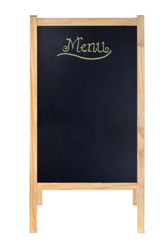 Menu「Empty Blank Menu Blackboard Easel Sign on White Background」:スマホ壁紙(19)