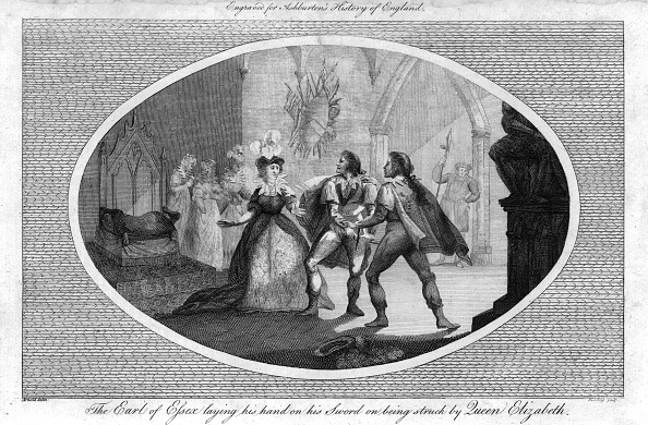 Elizabethan Style「The Earl Of Essex Laying His Hand On His Sword On Being Struck By Queen Elizabeth」:写真・画像(2)[壁紙.com]