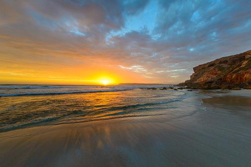 夕焼け 海「Venus Bay at sunset, Victoria, Australia」:スマホ壁紙(11)
