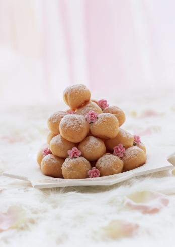 Wagashi「Cream puffs」:スマホ壁紙(6)