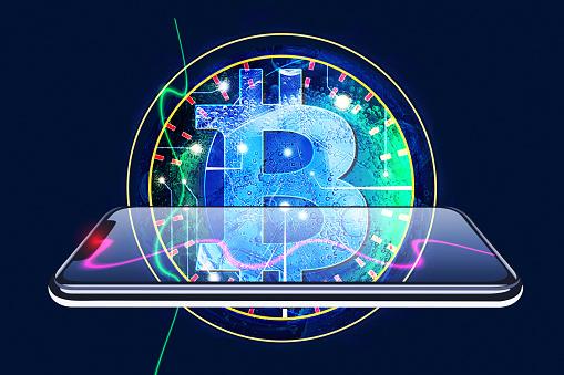 Bitcoin「Bitcoin and iPhone」:スマホ壁紙(2)