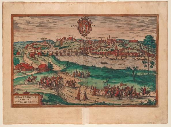 Painted Image「Grodno (From: Civitates Orbis Terrarium)」:写真・画像(8)[壁紙.com]