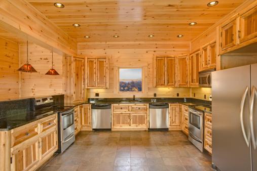 Rustic「Modern cabin kitchen (XXL)」:スマホ壁紙(7)