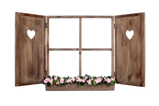 Window Frame「Open bavarian window frame isolated」:スマホ壁紙(0)
