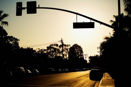 Boulevard「Low angle view of a street sign, San Diego, California, USA」:スマホ壁紙(17)