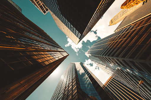 Wealth「low angle view of the skyscrapers in nyc」:スマホ壁紙(11)