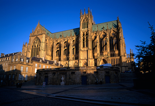 Gothic Style「Low angle view of a cathedral in Metz」:スマホ壁紙(7)