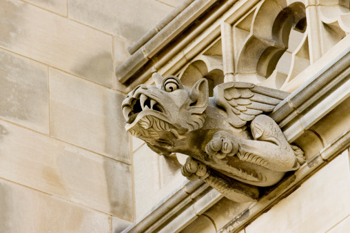 Dragon「Low angle view of a dragon gargoyle, National Cathedral, Washington DC, USA」:スマホ壁紙(12)