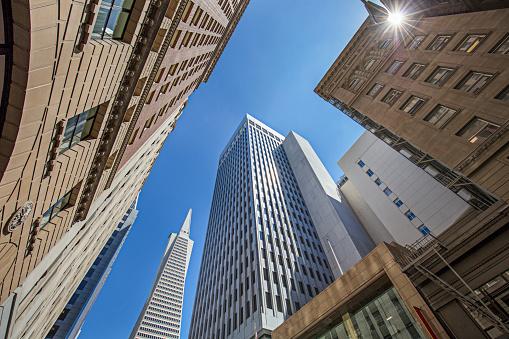 Pyramid Shape「Downtown district skyscraper in San Francisco」:スマホ壁紙(4)