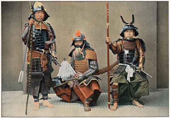 戦国武将「'A Group of Samurai', c1890.」:写真・画像(18)[壁紙.com]