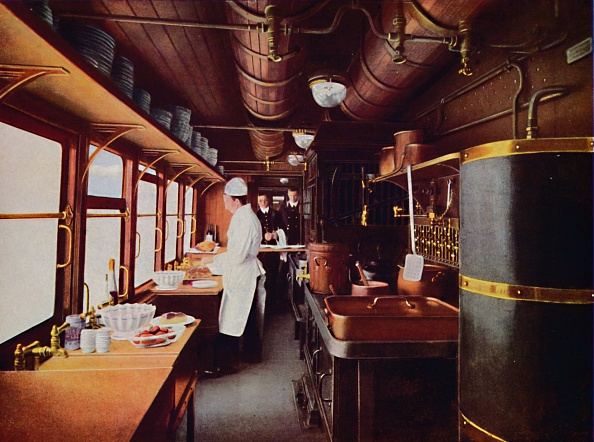 Kitchen「Inside A Restaurant Car Kitchen On The LMS Railway」:写真・画像(3)[壁紙.com]