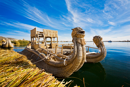 Indigenous Culture「Reed Boat In Lake Titicaca, Peru」:スマホ壁紙(5)