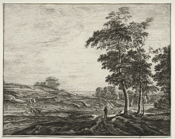 Etching「Six View In The Wood Of The Hague: Peasant Seen From The Back. Creator: Roelant Roghman (Dutch」:写真・画像(0)[壁紙.com]