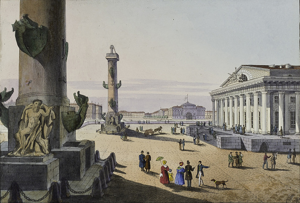 Neva River「Stock exchange and Admirality in St Petersburg, First half of the 19th cent」:写真・画像(7)[壁紙.com]