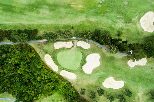 Sports Flag「Drone photo of the golf course.」:スマホ壁紙(0)