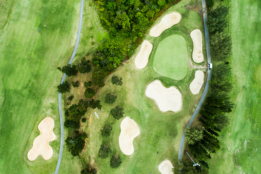 Putting - Golf「Drone photo of the golf course.」:スマホ壁紙(11)
