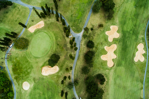 Sports Flag「Drone photo of the golf course.」:スマホ壁紙(15)