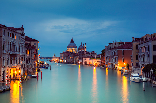 Canal「Grand Canal and Santa Maria della Salute at dusk」:スマホ壁紙(1)