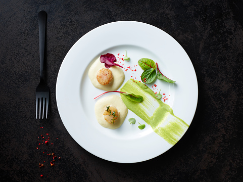 Mash - Food State「Scallops on nut butter with pea and mint puree」:スマホ壁紙(14)