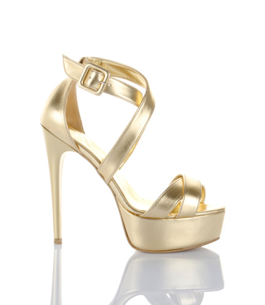 High Heels「gold high heel shoe」:スマホ壁紙(4)