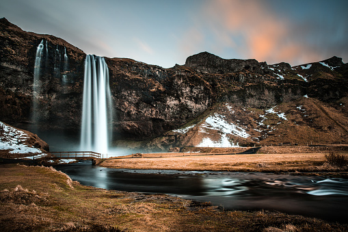 Iceland「Seljalandsfoss waterfall in Iceland」:スマホ壁紙(10)
