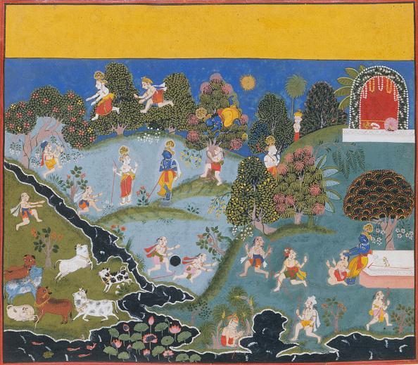 Rajasthan「Blindmans Bluff...From A Dispersed Bhagavata Purana (Ancient Stories Of Lord Vishnu),」:写真・画像(9)[壁紙.com]