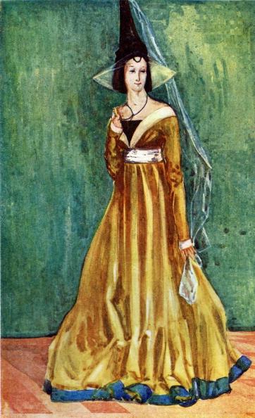 Circa 15th Century「Woman 's costume in reign of Edward IV (1461-1483)」:写真・画像(12)[壁紙.com]