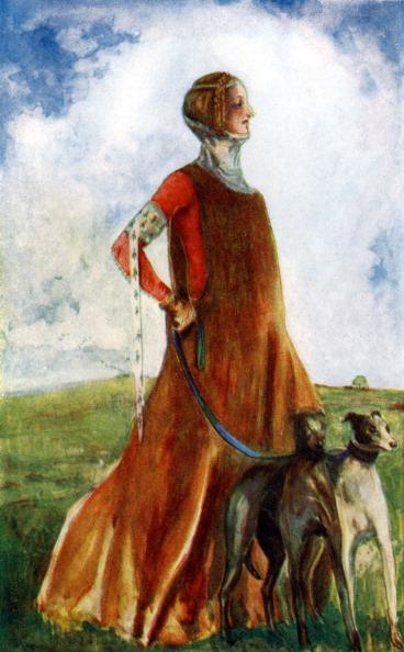 Circa 14th Century「Woman 's costume in reign of Edward III」:写真・画像(16)[壁紙.com]