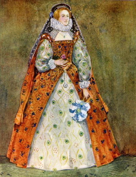 Elizabethan Style「Woman 's costume in reign of Elizabeth I (1558-1603)」:写真・画像(2)[壁紙.com]