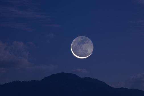 月「Moon in the Night Sky」:スマホ壁紙(13)