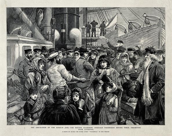 歴史「The Russian Jews examined by a doctor before the Emigration from Liverpool, 1891」:写真・画像(12)[壁紙.com]