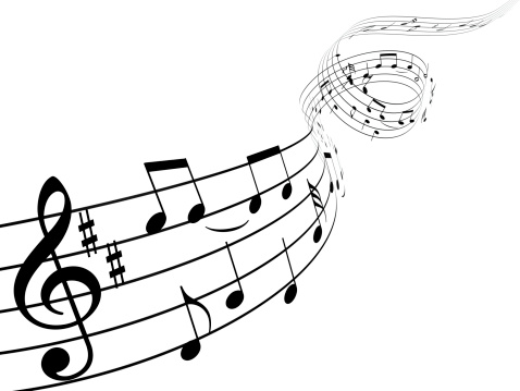 Digitally Generated Image「3D Music notes」:スマホ壁紙(1)